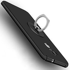 Custodia Plastica Rigida Opaca con Anello Supporto per Huawei GR5 Mini Nero