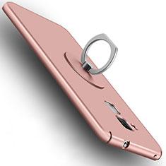Custodia Plastica Rigida Opaca con Anello Supporto per Huawei GR5 Mini Oro Rosa
