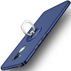 Custodia Plastica Rigida Opaca con Anello Supporto per Huawei Honor 6A Blu