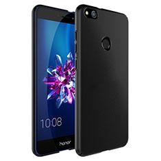 Custodia Plastica Rigida Opaca con Anello Supporto per Huawei Honor 8 Lite Nero