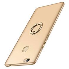 Custodia Plastica Rigida Opaca con Anello Supporto per Huawei Honor V8 Max Oro