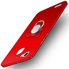 Custodia Plastica Rigida Opaca con Anello Supporto per Huawei P8 Lite Smart Rosso