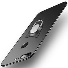 Custodia Plastica Rigida Opaca con Anello Supporto per OnePlus 5T A5010 Nero