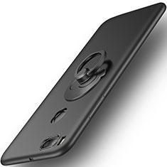 Custodia Plastica Rigida Opaca con Anello Supporto per Xiaomi Mi A1 Nero