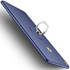 Custodia Plastica Rigida Opaca con Anello Supporto per Xiaomi Mi Max 2 Blu