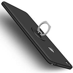 Custodia Plastica Rigida Opaca con Anello Supporto per Xiaomi Mi Max Nero