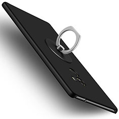 Custodia Plastica Rigida Opaca con Anello Supporto per Xiaomi Mi Mix Nero