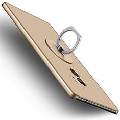 Custodia Plastica Rigida Opaca con Anello Supporto per Xiaomi Mi Mix Oro