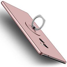 Custodia Plastica Rigida Opaca con Anello Supporto per Xiaomi Mi Mix Oro Rosa
