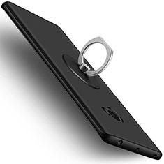 Custodia Plastica Rigida Opaca con Anello Supporto per Xiaomi Mi Note 2 Nero