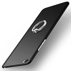 Custodia Plastica Rigida Opaca con Anello Supporto per Xiaomi Mi Note Nero