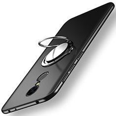 Custodia Plastica Rigida Opaca con Anello Supporto per Xiaomi Redmi 5 Nero