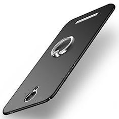 Custodia Plastica Rigida Opaca con Anello Supporto per Xiaomi Redmi Note 2 Nero