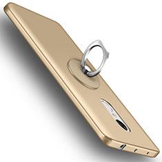 Custodia Plastica Rigida Opaca con Anello Supporto per Xiaomi Redmi Note 4 Oro