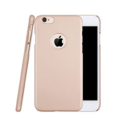 Custodia Plastica Rigida Opaca con Foro per Apple iPhone 6S Oro Rosa