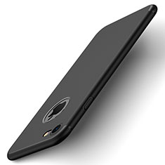 Custodia Plastica Rigida Opaca con Foro per Apple iPhone 7 Nero