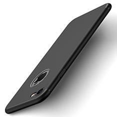 Custodia Plastica Rigida Opaca con Foro per Apple iPhone 8 Nero