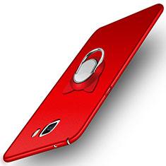Custodia Plastica Rigida Opaca con Magnetico Anello Supporto per Samsung Galaxy A9 Pro (2016) SM-A9100 Rosso
