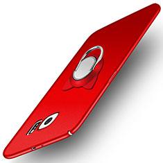 Custodia Plastica Rigida Opaca con Magnetico Anello Supporto per Samsung Galaxy S6 SM-G920 Rosso