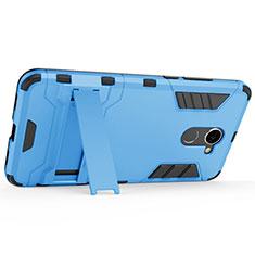 Custodia Plastica Rigida Opaca con Supporto per Huawei Y7 Prime Blu