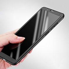 Custodia Plastica Rigida Opaca Fronte e Retro 360 Gradi per Huawei Honor 7X Nero