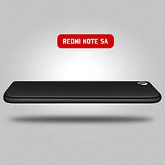 Custodia Plastica Rigida Opaca Fronte e Retro 360 Gradi per Xiaomi Redmi Note 5A Standard Edition Nero