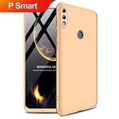 Custodia Plastica Rigida Opaca Fronte e Retro 360 Gradi Q01 per Huawei P Smart (2019) Oro