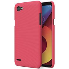 Custodia Plastica Rigida Opaca M01 per LG Q6 Rosso