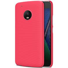 Custodia Plastica Rigida Opaca M01 per Motorola Moto G5 Plus Rosso