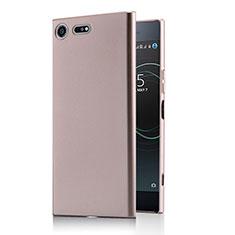 Custodia Plastica Rigida Opaca M01 per Sony Xperia XZ Premium Oro Rosa