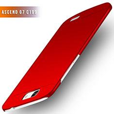 Custodia Plastica Rigida Opaca M02 per Huawei Ascend G7 Rosso