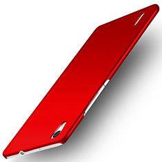 Custodia Plastica Rigida Opaca M02 per Huawei Ascend P7 Rosso