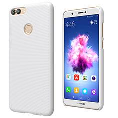 Custodia Plastica Rigida Opaca M02 per Huawei Enjoy 7S Bianco