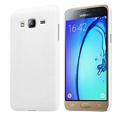 Custodia Plastica Rigida Opaca M02 per Samsung Galaxy J3 (2016) J320F J3109 Bianco
