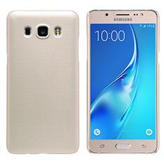 Custodia Plastica Rigida Opaca M02 per Samsung Galaxy J5 Duos (2016) Oro
