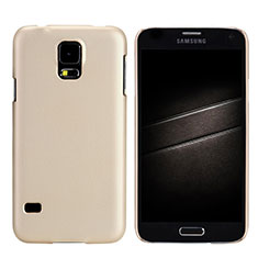 Custodia Plastica Rigida Opaca M02 per Samsung Galaxy S5 G900F G903F Oro