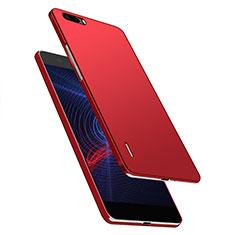 Custodia Plastica Rigida Opaca M03 per Huawei Honor 6 Plus Rosso