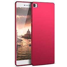 Custodia Plastica Rigida Opaca M03 per Huawei P8 Lite Rosso