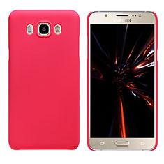 Custodia Plastica Rigida Opaca M03 per Samsung Galaxy J7 (2016) J710F J710FN Rosso