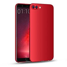 Custodia Plastica Rigida Opaca M04 per Huawei Honor V10 Rosso
