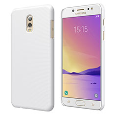 Custodia Plastica Rigida Opaca M04 per Samsung Galaxy J7 Plus Bianco