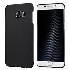 Custodia Plastica Rigida Opaca M04 per Samsung Galaxy S6 Edge+ Plus SM-G928F Nero