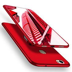 Custodia Plastica Rigida Opaca M05 per Huawei Honor Note 8 Rosso