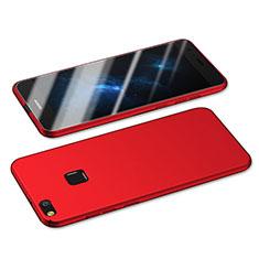 Custodia Plastica Rigida Opaca M05 per Huawei P8 Lite (2017) Rosso