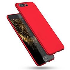 Custodia Plastica Rigida Opaca M08 per Huawei P10 Rosso