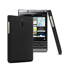 Custodia Plastica Rigida Opaca per Blackberry Passport Silver Edition Nero