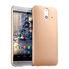 Custodia Plastica Rigida Opaca per HTC One E8 Oro