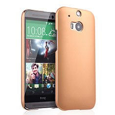 Custodia Plastica Rigida Opaca per HTC One M8 Oro