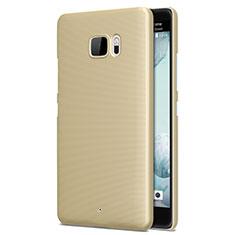 Custodia Plastica Rigida Opaca per HTC U Ultra Oro