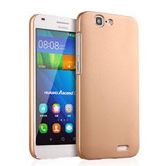 Custodia Plastica Rigida Opaca per Huawei Ascend G7 Oro